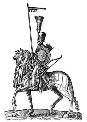 1576 Photograph - Ottoman Cavalryman, 1576 by Granger