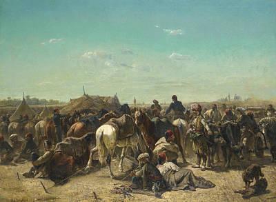 Ottoman Painting - Ottoman Encampment by Adolf Schreyer