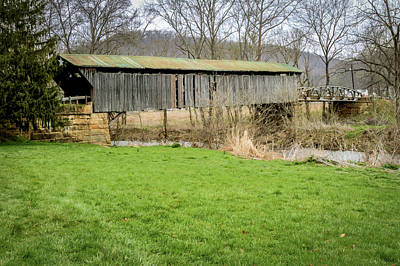 Music Royalty-Free and Rights-Managed Images - Otway Covered Bridge  by Jack R Perry