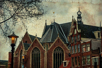 Photograph - Oude Kerk. Red Lights District. Amsterdam  by Jenny Rainbow