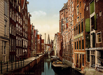 Painting - Oudezijds Kolk Amsterdam by Celestial Images