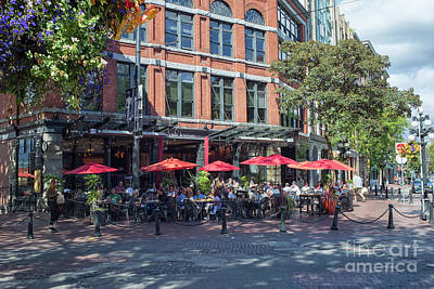 Photograph - Oudoors Restaurant Vancouver by Patricia Hofmeester