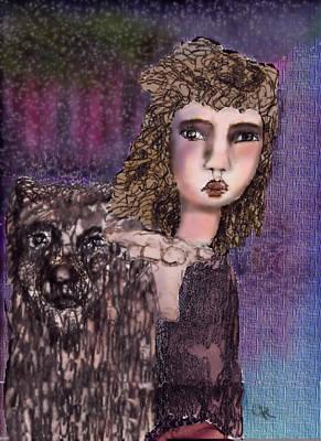 Oui Art Print by Cynthia Richards