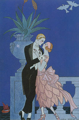 Beaux Arts Painting - Oui by Georges Barbier