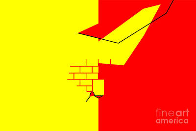 The Bunsen Burner - Oujda Angad Flag by Frederick Holiday