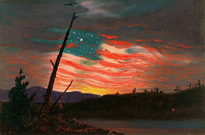Frederic Edwin Church Sunset Jamaica Picture PANORAMIC CANVAS WALL ART Print