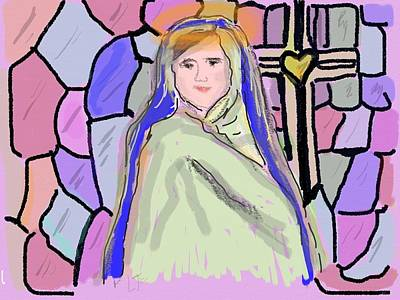 Mother Mary Digital Art - Our Blessed Mother, Mary by Laurel Foster