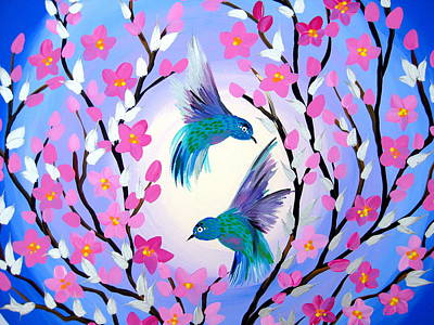 Cherry Blossoms Painting - Our Bond by Cathy Jacobs