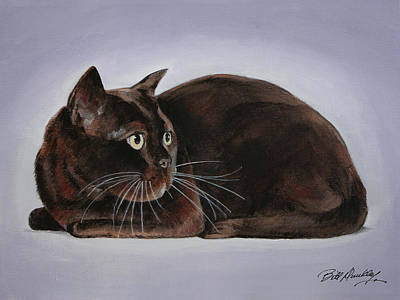 Our Burmese Kitty Original by Bill Dunkley