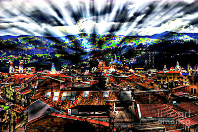 Our City In The Andes Art Print by Al Bourassa