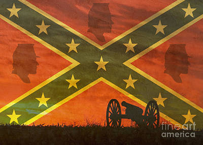 Photograph - Our Confederate Heritage by Susan Bordelon