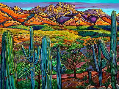 Painting - Our Desert Guardians -catalina State Park, Az by Alexandria Winslow