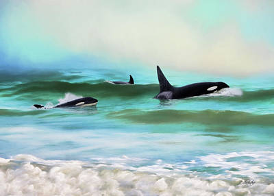 Painting - Our Family - Orca Whale Art by Jordan Blackstone
