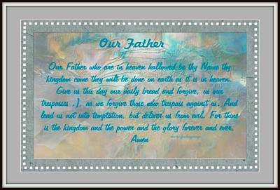 Digital Art - Our Father by Sherri's - Of Palm Springs