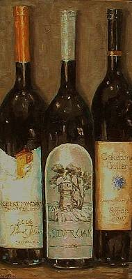 Italian Wine Painting - Our Favorite Reds by Beth Capogrossi