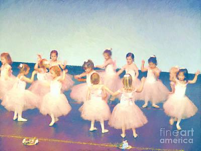 Dance Recital Digital Art - Our First Recital Miniature by Susan  Lipschutz