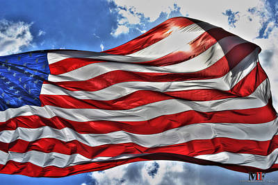 Photograph - Our Flag 01 by Michael Frank Jr