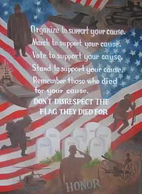 Painting - Our Flag by Tony Caviston