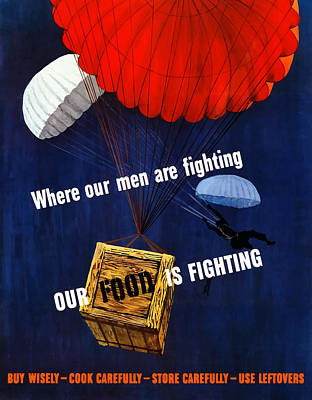 American Food Painting - Our Food Is Fighting - Ww2 by War Is Hell Store