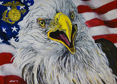 Semper Fi Painting - Our Freedom Won by Penny Winn