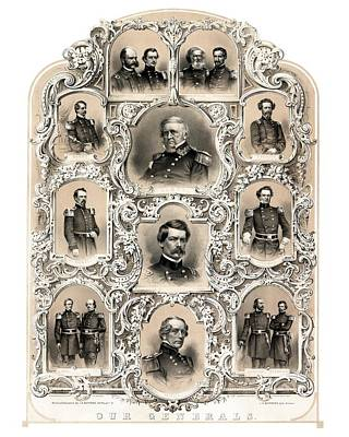 Our Generals -- Union Civil War Art Print by War Is Hell Store