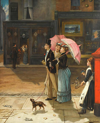 Good Dog Painting - Our Good Natured Cousin by Augustus Mulready