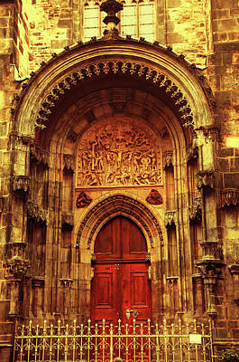 Photograph - Our Lady Before Tyn 1. Architecture. Series Golden Prague by Jenny Rainbow
