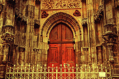 Photograph - Our Lady Before Tyn Architecture. Series Golden Prague by Jenny Rainbow