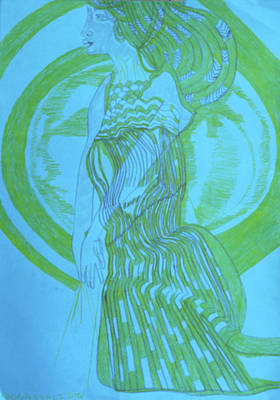 Painting - Our Lady Clothed With The Sun by Gloria Ssali