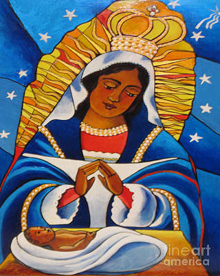 Painting - Our Lady Of Altagracia - Nuestra Senora De Altagracia - Mmola by Br Mickey McGrath OSFS