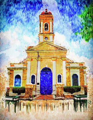 Del Rio Digital Art - Our Lady Of Candelaria Church by Edelberto Cabrera