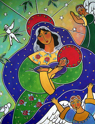 Painting - Our Lady Of Compassion by Jan Oliver-Schultz