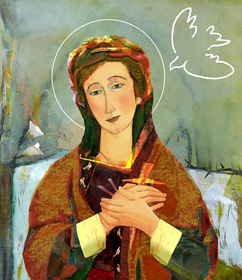Our Lady Of Compassion Print by Michael Torevell