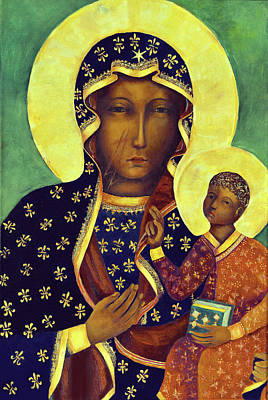 Catholic For Sale Painting - Our Lady Of Czestochowa Black Madonna Poland by Magdalena Walulik