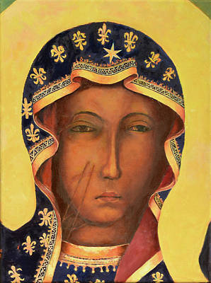 Icon Reproduction Painting - Our Lady Of Czestochowa Virgin Mary by Magdalena Walulik
