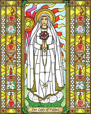 Painting - Our Lady Of Fatima by Brenda Nippert