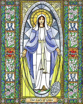 Painting - Our Lady Of Grace by Brenda Nippert