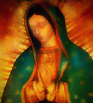 Mexico Digital Art - Our Lady Of Guadalupe by Bill Cannon