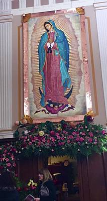 Painting - Our Lady Of Guadalupe Detail by Patrick RANKIN