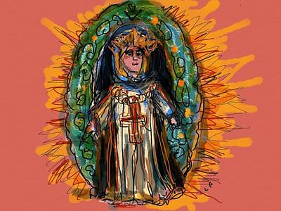 Mother Mary Digital Art - Our Lady Of Guadalupe by Laurel Foster