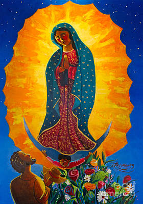 Painting - Our Lady Of Guadalupe - Mmogu by Br Mickey McGrath OSFS