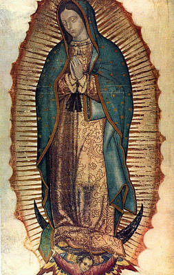 Art Print featuring the painting Our Lady Of Guadalupe by Pam Neilands