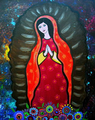 Our Lady Of Guadalupe Art Print by Pristine Cartera Turkus