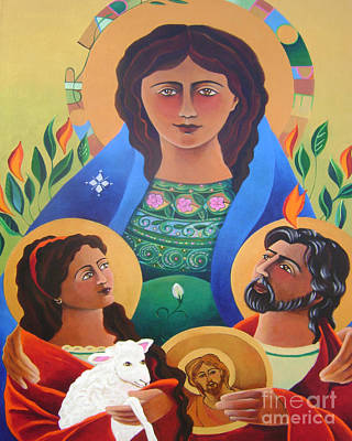 Painting - Our Lady Of Hope - Mmhop by Br Mickey McGrath OSFS