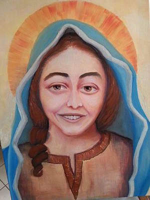 Saint Hope Painting - Our Lady Of Joy by Margaret Zylla