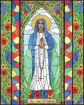 Painting - Our Lady Of Kibeho by Brenda Nippert