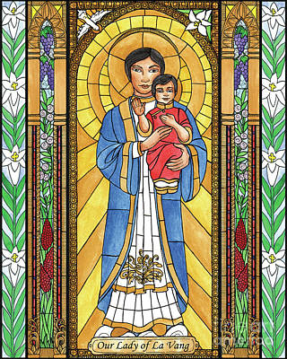 Painting - Our Lady Of La Vang by Brenda Nippert