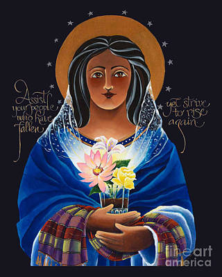 Addict Painting - Our Lady Of Light - Help Of The Addicted - Mmlol by Br Mickey McGrath OSFS