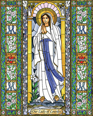 Painting - Our Lady Of Lourdes by Brenda Nippert