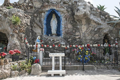Photograph - Our Lady Of Lourdes Grotto In Rio Grande City by Carol M Highsmith